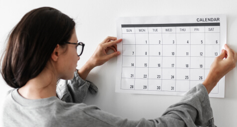 Woman with calendar