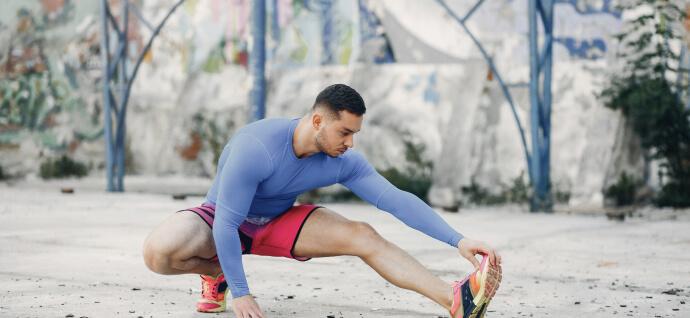 A man performs an exercise