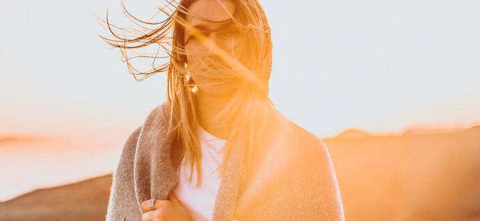 Girl in the blanket