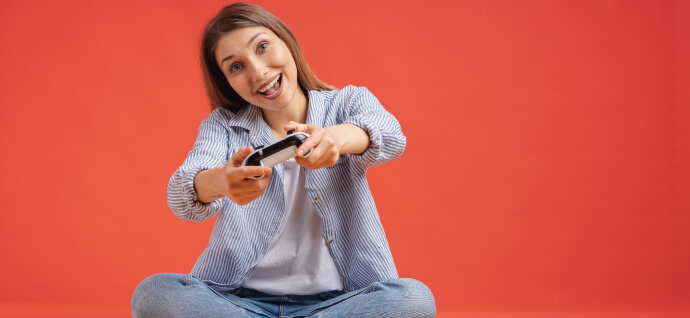 Girl with gamepad