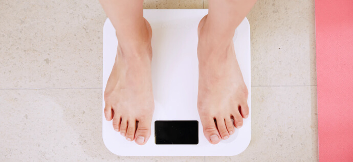 Man on the scales