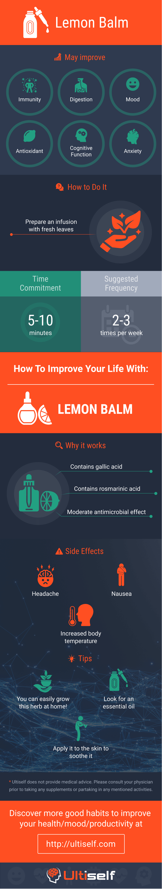 Lemon Balm infographic