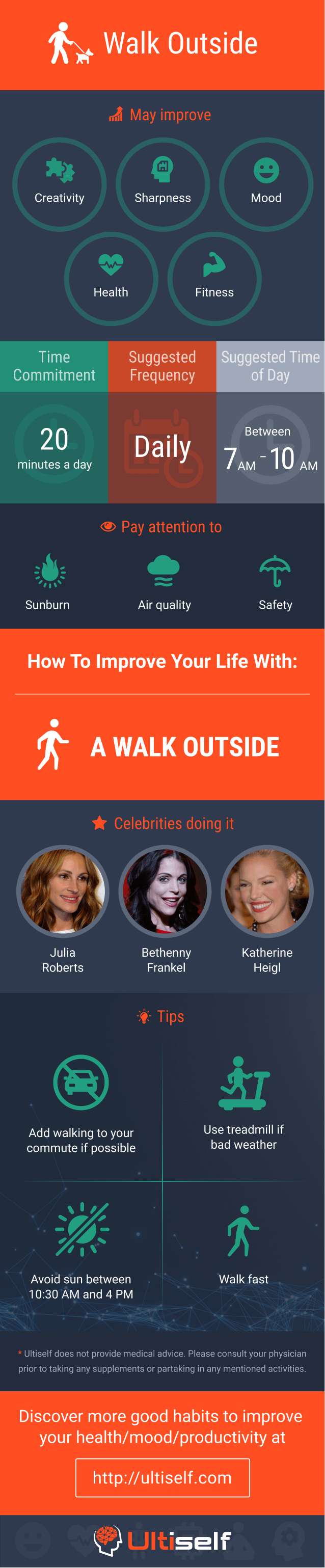 Walk outside infographic