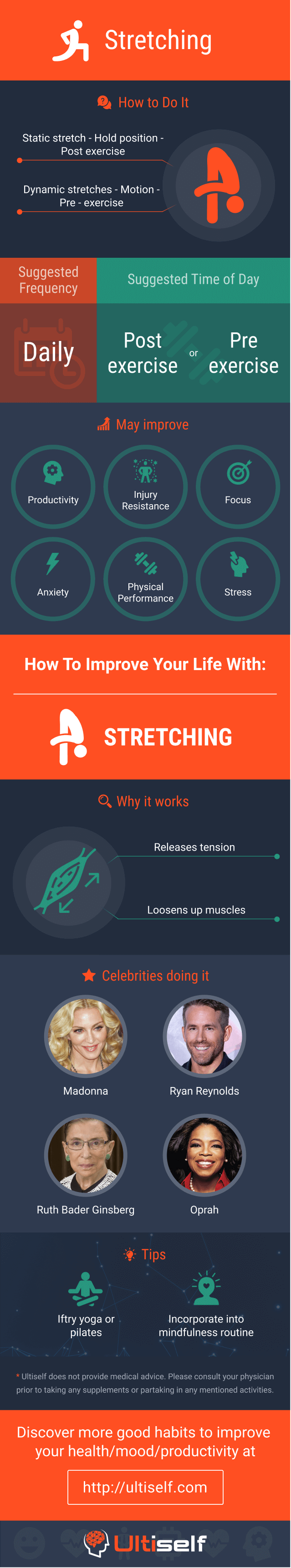 Stretching infographic