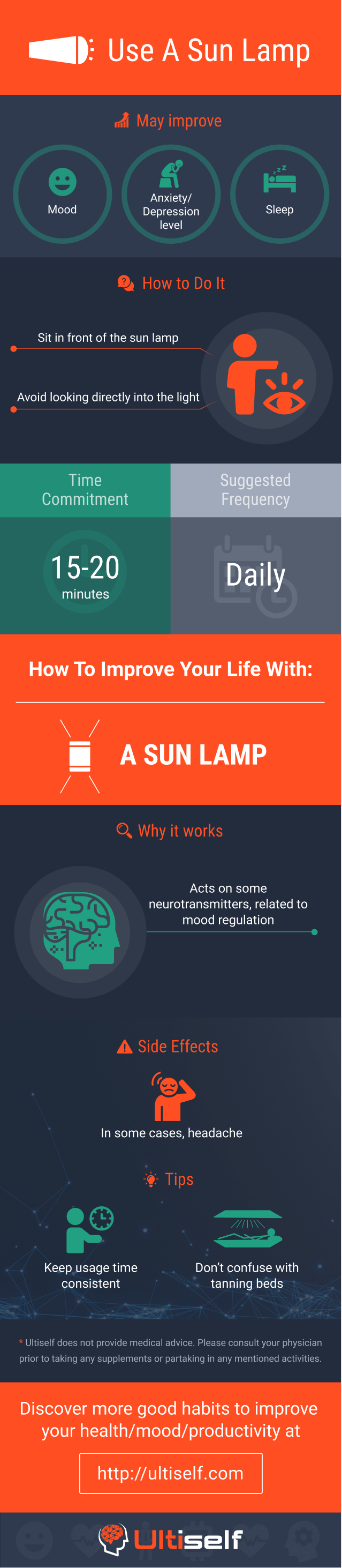 Use Sun Lamp infographic