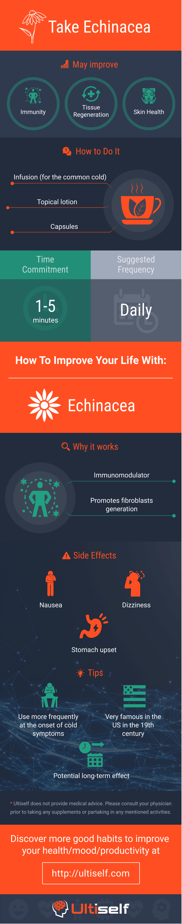 Take Echinacea infographic