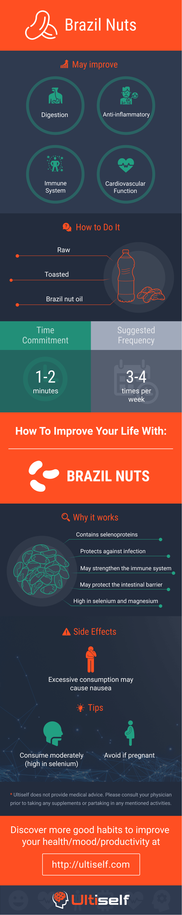 Brazil nuts infographic